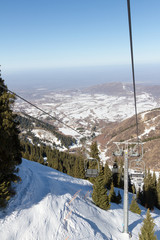 chair lift in the mountains ski resort
