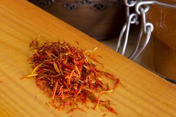 Orange saffron strands