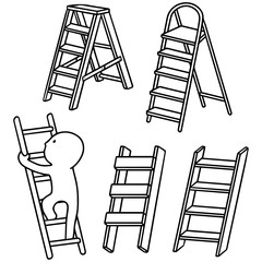 vector set of ladders
