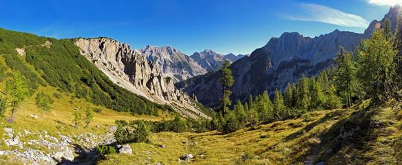 Panoramablick im Karwendel, Tirol, Österreich