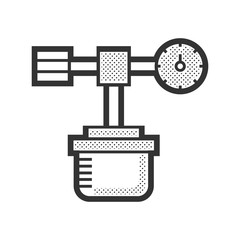 Medical Device Icon, oxygen cylinder