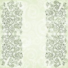 Abstract floral vintage background illustration.