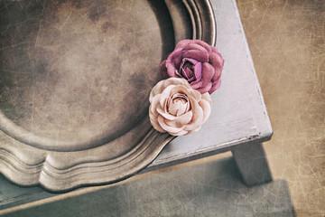 Vintage styled platter still life