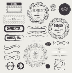 vector logo vintage and frames design elements premium quality