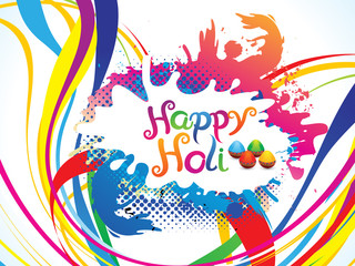 abstract artistic colorful holi explode