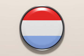 Button with Luxembourg flag