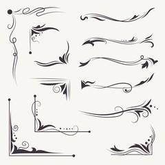 Obraz Vector Elegant Arabic Vignettes - fototapety do salonu