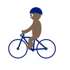 Kippy riding bicycle