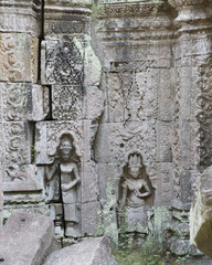 Dancing women in a wall of Preah Khan, Temple of the Sacred Swor