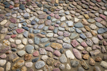 pavement from sea stones - texture.