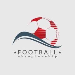 Football  Soccer championship logo