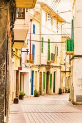 Wall Mural - Typical mediterranean street