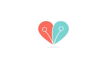 heart love connection logo