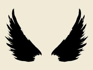 Bush sketch of wings
