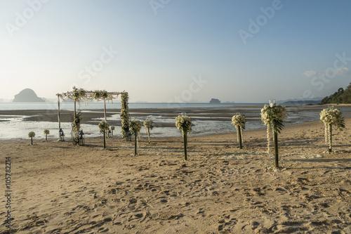 Dekoration F R Eine Hochzeit Am Strand In Thailand