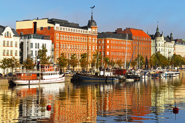 Finland, Helsinki. Water landscape, northern harbor