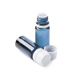 Small vial flask isolated