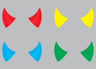 Horns devil set color