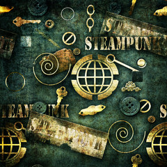 Abstract mechanical elements steampunk grunge background