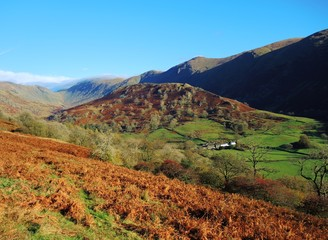The Troutbeck valley in the English Lake District.