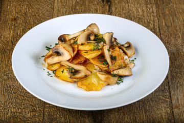 Roasted mushrooms with potato
