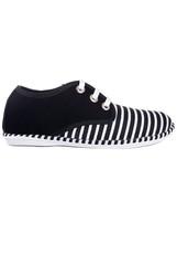 Black stripes shoes