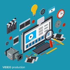 Video production vector illustration