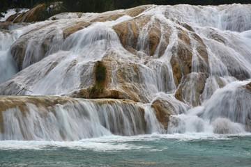 Agua Azul waterfall, Yucatan  Peninsula, Mexico.