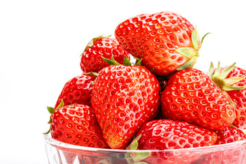Delicious fresh red Strawberry fruits