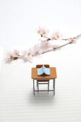 桜 学習机 本 ノート