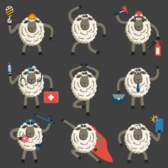 Stubborn Lambs Professional Character Vector Set.