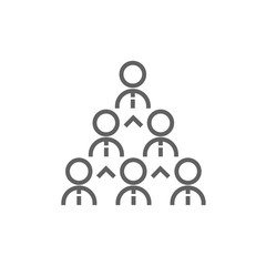 Business pyramid line icon.