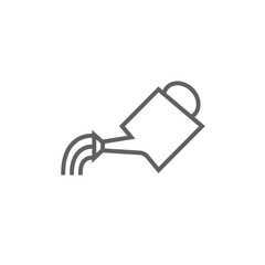 Watering can line icon.