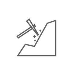 Mining line icon.