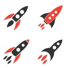 Rocket icons set.