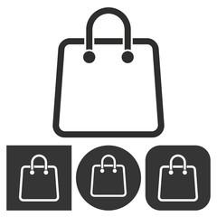Shopping bag - vector icon.