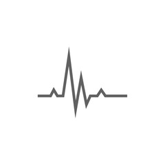 Hheart beat cardiogram line icon.