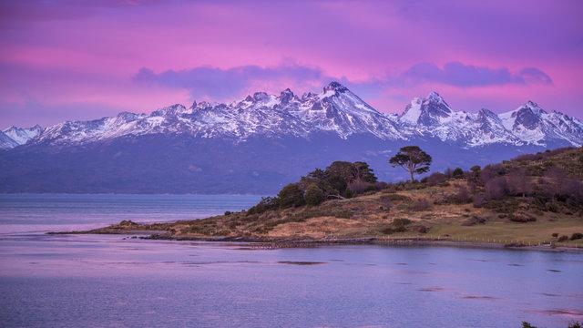 Ushuaia. Sunrise. Argentina