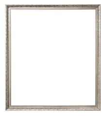 Blank of vintage picture frame isolate on white