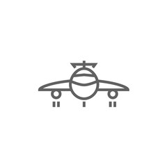 Airplane line icon.