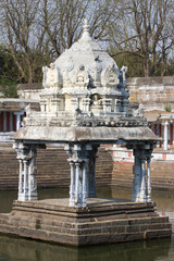 Small monument in water, Ekambareswarar Temple, Kanchipuram, Tamil Nadu, India