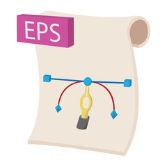 EPS icon, cartoon style