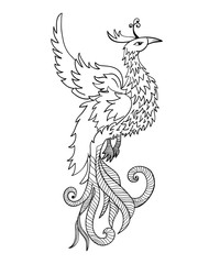 Chinese traditional phoenix. Feng Shui symbolize fire element.