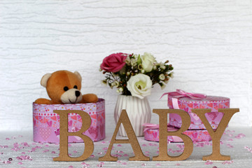 Wall Mural - Geschenke fürs Baby