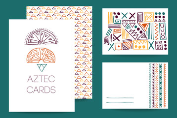 Creative template collection of cards.