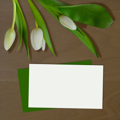 Mock Up with Tulips