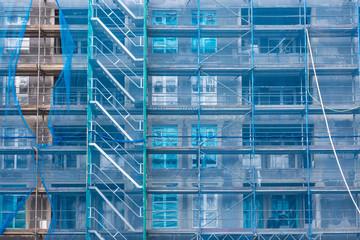 Baustelle mit Baugerüst Gebäude
