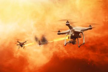 Drones battle