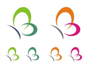 colorful abstract butterfly logo template 1
