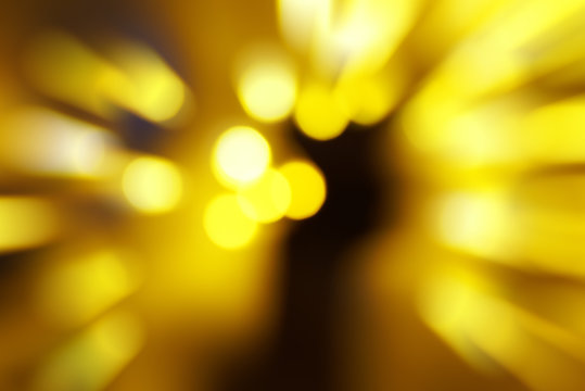 Holiday abstract red and yellow lights